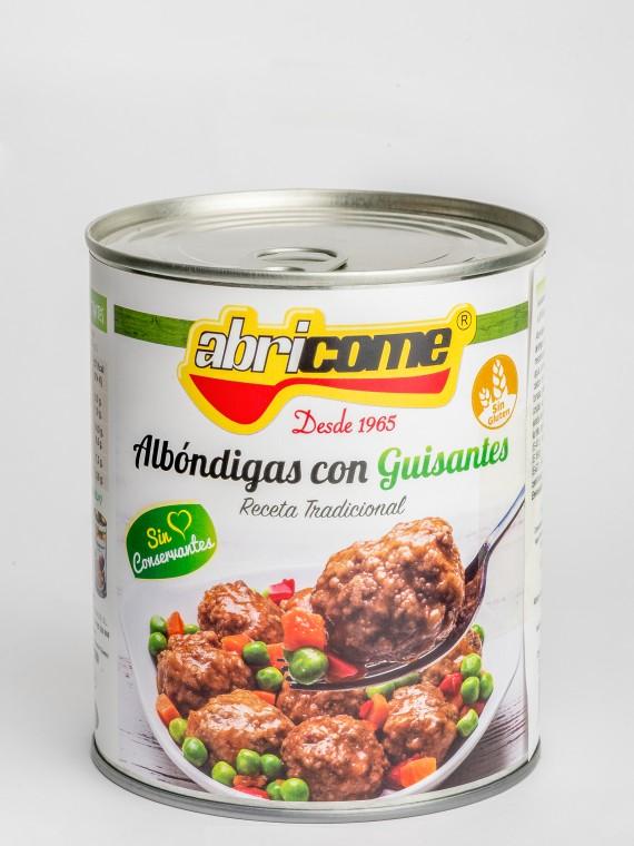 Albo¦ündigas con guisantes 840