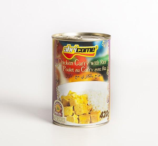 Pollo al Curry con Arroz HALAL