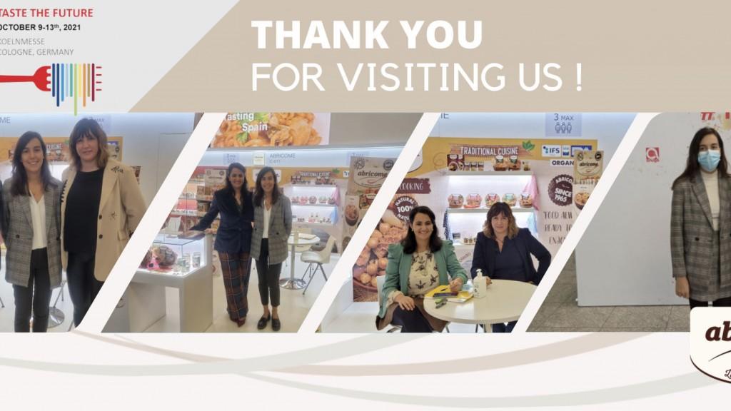 Anuga thanks for visiting us